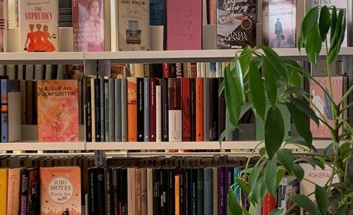 bokylle med mange bøker